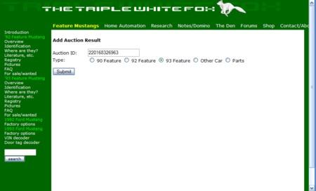 Adding an ebay listing
